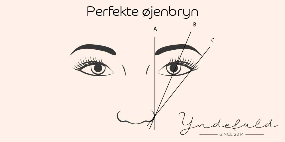 Perfekte øjenbryn form