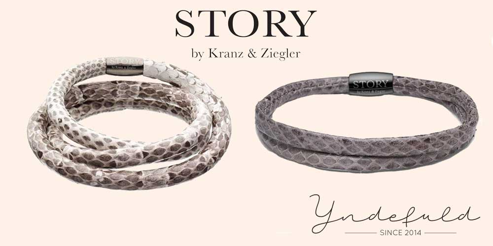 Story armbånd i slangeskind - slangeskindsarmbånd