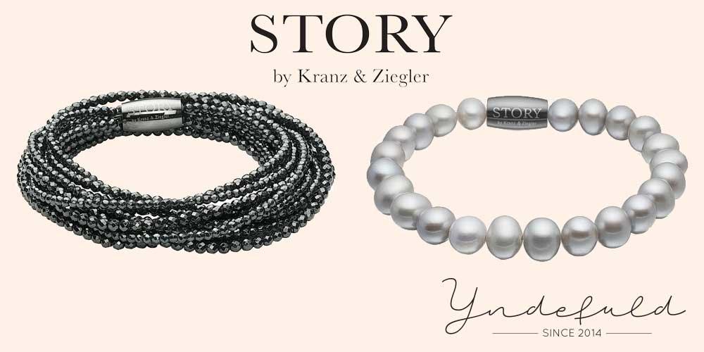 Story armbånd med sten og perler