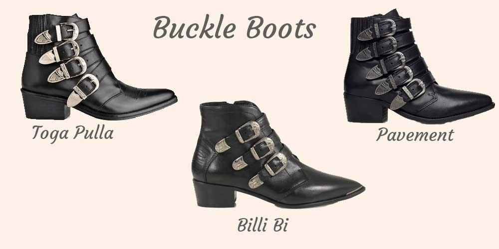 Støvler med spænder fra Toga Pulla, Billi Bi og Pavement - Buckle boots