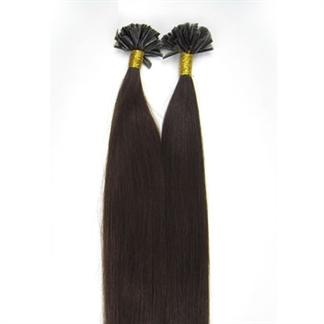 50 cm Hot Fusion Hair extensions 2# Mørkebrun