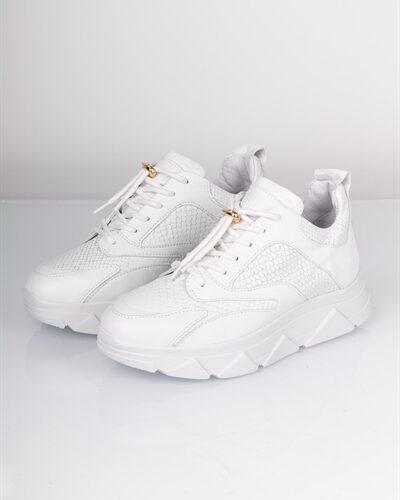 Pavement - Sneakers - Portia Snake - White
